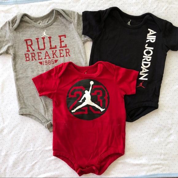 6e93de0785d Air Jordan Other - Bundle Lot of 3 Air Jordan Onesies Baby Boy 9 12m